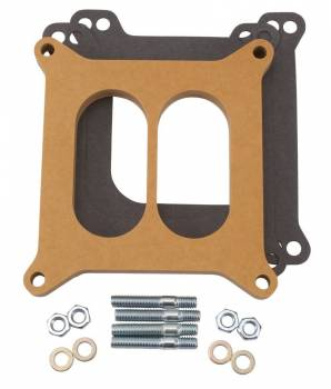 Edelbrock - Edelbrock -4 Barrel Carburetor Spacer - Divided