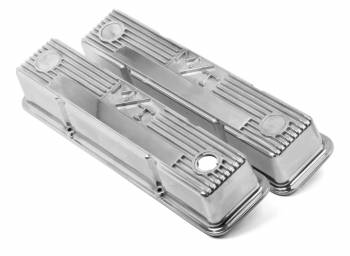 Holley Performance Products - Holley M/T Retro Aluminum Valve Covers SB Chevy