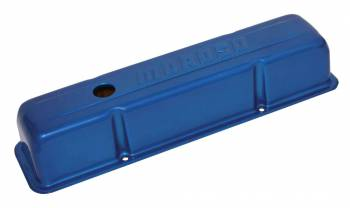 Moroso Performance Products - Moroso Stamped Tall Aluminum Valve Cover Powder Coated-Blue - SB Chevy