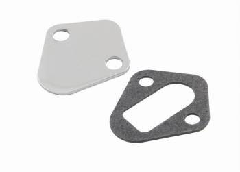 Mr. Gasket - Mr. Gasket Fuel Pump Block-Off Plate - Chrome