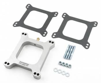 """Mr. Gasket - Mr. Gasket Aluminum Carburetor Spacer Kit - 1"""" Open Center w/ 3/8"""" PCV Tube"""