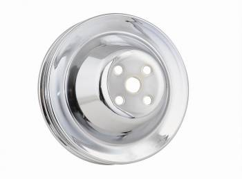 Mr. Gasket - Mr. Gasket Chrome Plated Steel Water Pump Pulley - Double Groove