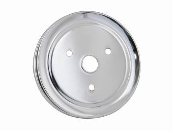 Mr. Gasket - Mr. Gasket Chrome Plated Steel Crankshaft Pulley - Double Groove