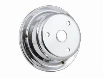 Mr. Gasket - Mr. Gasket Chrome Plated Steel Crankshaft Pulley - Single Groove