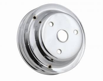 Mr. Gasket - Mr. Gasket Chrome Plated Steel Crankshaft Pulley - Double Groove