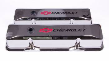 Proform Parts - Proform Die-Cast Valve Covers - Bow Tie Emblem - Chrome Plated