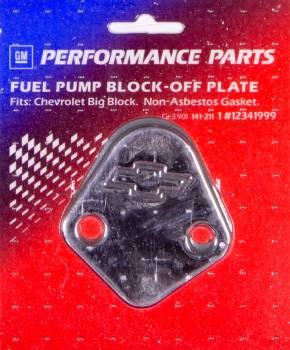 Proform Performance Parts - Proform Fuel Pump Block-Off Plate - Bow Tie Emblem - Big Block Chevy