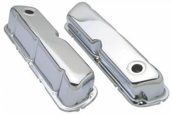 Trans-Dapt Performance - Trans-Dapt Chrome Plated Steel Valve Covers - Stock Height