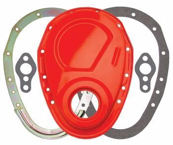 Trans-Dapt Performance - Trans-Dapt SB Chevy 2 Pc. Timing Cover Orange