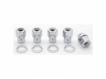 Weld Racing - Weld Lug Nuts 12mm x 1.5 RH Open End w/ Washers 5-Pack