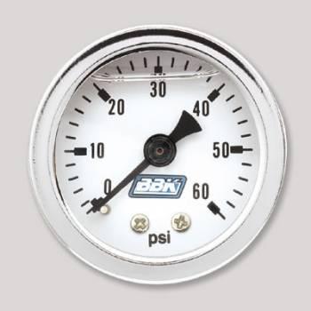 BBK Performance - BBK Performance Fuel Pressure Gauge Kit - Liquid Filled