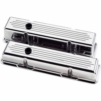 Billet Specialties - Billet Specialties Polished SB Chevy Tall Valve Covers - Ball-Milled - SB Chevy - (Set of 2)