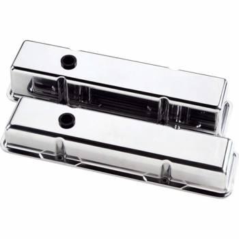 Billet Specialties - Billet Specialties SB Chevy Plain Valve Covers - SB Chevy - (Set of 2)