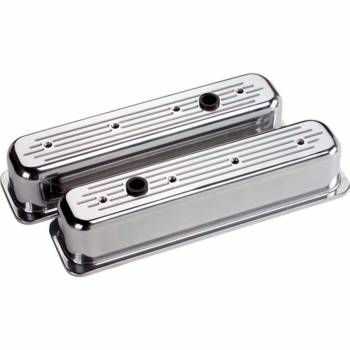 Billet Specialties - Billet Specialties Tall Centerbolt Ball-Milled Valve Covers - SB Chevy - (Set of 2)