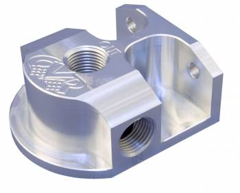 CVR Performance Products - CVR Performance Billet Aluminum Remote Oil Filter Mount GM