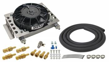 Derale Performance - Derale 15 Row Atomic Cool Plate & Fin Remote Transmission Cooler Kit -6AN