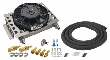 Derale Performance - Derale 15 Row Atomic Cool Plate & Fin Remote Transmission Cooler Kit, -8AN