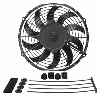 "Derale Performance - Derale 10"" High Output Curved Blade Electric Puller Fan"