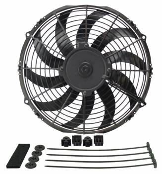 "Derale Performance - Derale 12"" High Output Curved Blade Electric Puller Fan"