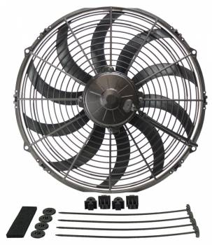 "Derale Performance - Derale 14"" High Output Curved Blade Electric Puller Fan"