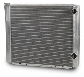 "AFCO Racing Products - AFCO Aluminum Double Pass Radiator - 19"" x 24"" - Inlet 1-1/2"" Right, Outlet 1-3/4"" Right"