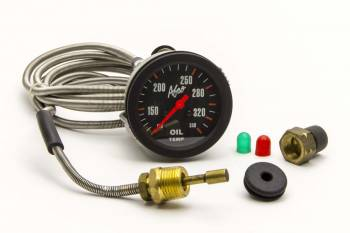 "AFCO Racing Products - AFCO Oil Temp Gauge (72"" Line) 2-5/8"" - 140-325 Deg F"