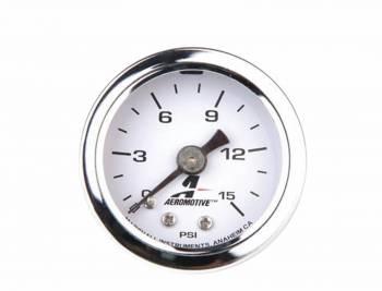 "Aeromotive - Aeromotive Fuel Pressure Gauge - 1-1/2"" Diameter - 0-15 PSI"