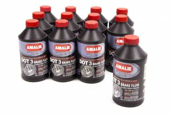 Amalie Oil - Amalie DOT 3 Brake Fluid - 12 oz. Bottle (Case of 12)