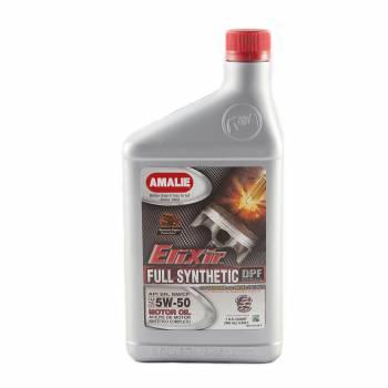Amalie Oil - Amalie Elixir Full Synthetic Motor Oil - 5W-50 Oil - 1 Quart Bottle (Case of 12)