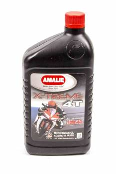 Amalie Oil - Amalie X-treme 4T Max MC Motorcycle Oil - 10W40 - 1 Qt. Bottle