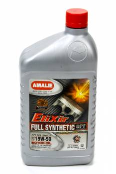 Amalie Oil - Amalie Elixir Full Synthetic Motor Oil - 15W-50 Oil - 1 Quart Bottle