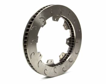 "AP Racing - AP Racing 60 Vane Late Model J-Hook Brake Rotor - LH - 1.25"" Rotor Thickness - 11.75"" Diameter - 8 Bolt x 7"" Bolt Circle"