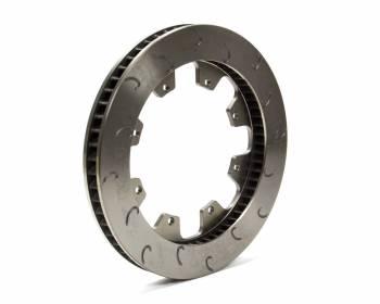 "AP Racing - AP Racing 60 Vane Late Model J-Hook Brake Rotor - LH - 1.25"" Rotor Thickness - 12.19"" Diameter - 8 Bolt x 7"" Bolt Circle"