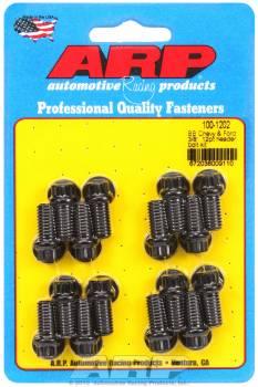 """ARP - ARP Header Bolt Kit - Black Oxide - Ford - 3/8"""" Diameter, .750"""" Under Head Length - 12 Pt. Head - (16 Pack)"""
