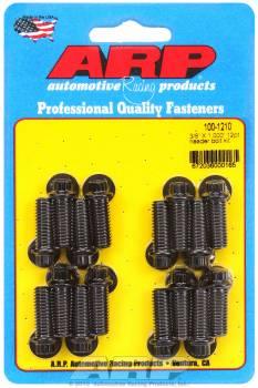"ARP - ARP Black Oxide Header Bolt Kit - 12-Point - 3/8"" x 1.00"" Under Head Length (16 Pieces)"