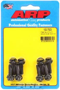 "ARP - ARP Black Oxide Valve Cover Bolt Kit - For Cast Aluminum Covers - 1/4""- 20 - .812"" Under Head Length - 12-Point (8 Pieces)"