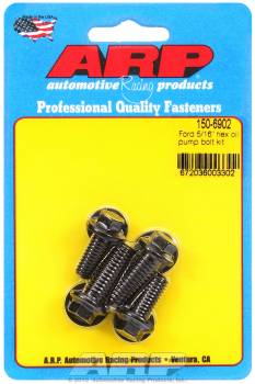 ARP - ARP Oil Pump Bolt Kit - Hex Head, Chromemoly, Black Oxide - Ford V8 - Set of 4