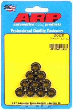 "ARP - ARP Replacement Nuts - 5/16""-24 Thread, 3/8"" 12 Pt. Socket Size - (10 Pack)"