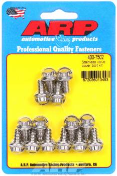 "ARP - ARP Stainless Steel Valve Cover Bolt Kit - 12-Point - 1/4""-20 - Stamped Steel Covers - Set of 14"