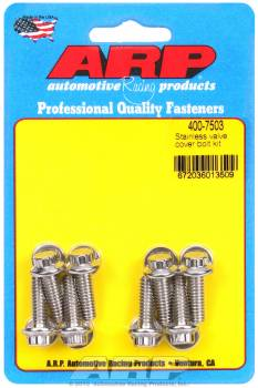 "ARP - ARP Stainless Steel Valve Cover Bolt Kit - 12-Point - Cast Aluminum Covers - 1/4""-20 Thread - Set of 8"