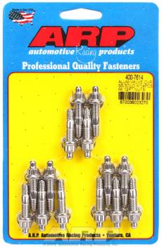 "ARP - ARP Stainless Steel Valve Cover Stud Kit - For Cast Aluminum Covers - 1/4""-20 - 1.500"" UHD - 12-Point (14 Pieces)"