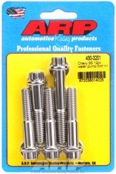 ARP - ARP Stainless Steel Water Pump Bolt Kit - 12-Point - Short, Long Pump - SB Chevy, BB Chevy