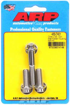 ARP - ARP Stainless Steel Thermostat Housing Bolts - 12-Point - Chevy - Set of 3