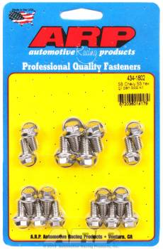 ARP - ARP SB Chevy Stainless Steel Oil Pan Bolt Kit - Hex Head - SB Chevy