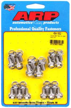 ARP - ARP Stainless Steel Oil Pan Bolt Kit - Hex Head - SB Ford, Cleveland