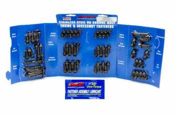 ARP - ARP Black Oxide Complete Engine Fastener Kit - SB Chevy - Hex Heads