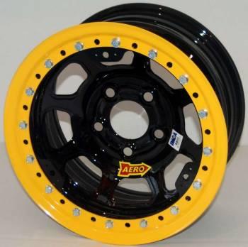 "Aero Race Wheel - Aero 53 Series Rolled Beadlock Wheel - Black - 15"" x 10"" - Wide 5 - 2"" Back Spacing - 24 lbs."