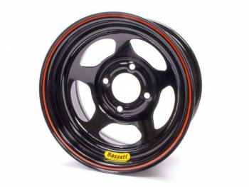 "Bassett Racing Wheels - Bassett Legends, Mini-Stock Spun Wheel - 13"" x 7"" - 4 x 4.5"" - Black - 3"" Back Spacing - 16.25 lbs."