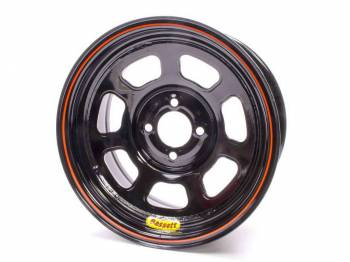 "Bassett Racing Wheels - Bassett 14"" Lightweight D-Hole Wheel - 14"" x 7"" - 4 x 100mm Bolt Circle - 3"" Back Spacing - Black"