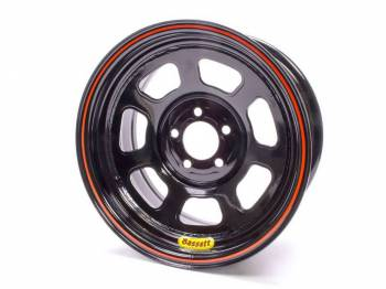 "Bassett Racing Wheels - Bassett D-Hole Lightweight Wheel - 14"" x 7"" - 5 x 100mm Bolt Circle - 4"" Back Spacing - Black - 15 lbs."